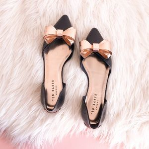 Ted Baker Lela Bow Pointed Flats